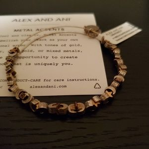 Alex and Ani moon and stars beaded bangle